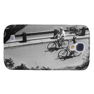 Man and Boy Cycling Samsung Galaxy S4 Case