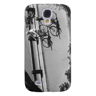 Man and Boy Cycling Samsung Galaxy S4 Cover