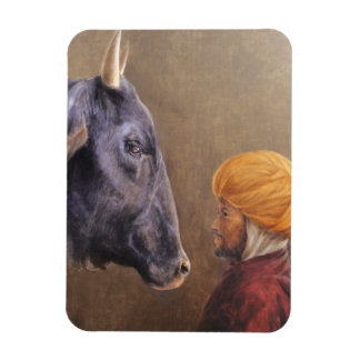 Man and Bull Magnet