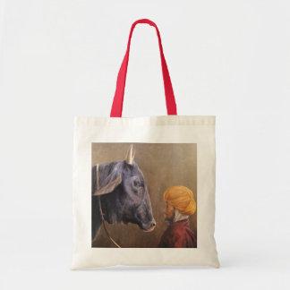 Man and Bull Tote Bag