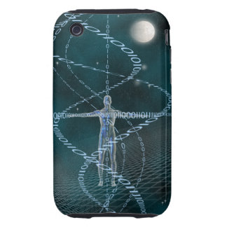 Man and Cyberspace iPhone 3 Tough Covers