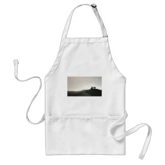 Man and Dog Bond on the Mountain Adult Apron
