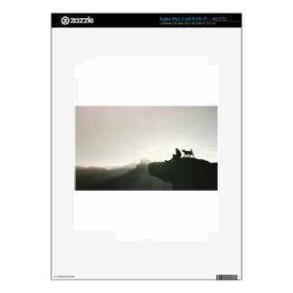 Man and Dog Bond on the Mountain Decal For iPad 3