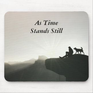 Man and Dog Bond on the Mountain Mouse Pad