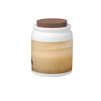 Man and Dog Mountain Mist Candy Jars