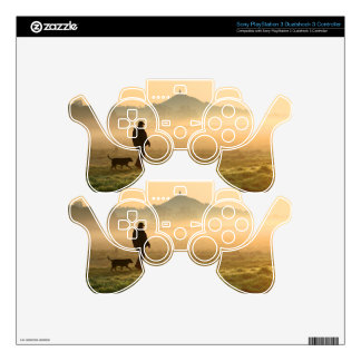 Man and Dog Mountain Mist PS3 Controller Decal