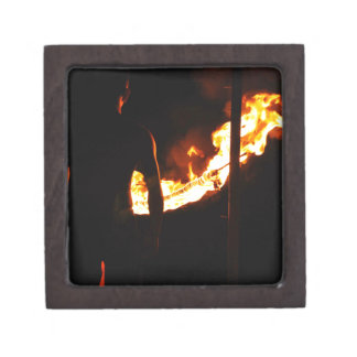 Man and fire premium jewelry boxes