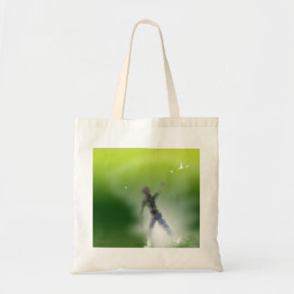 Man and  Flying Birds Tote Bag