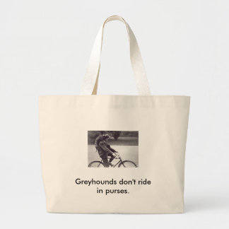 Man and grey on bicycle in England, Jumbo Tote Bag