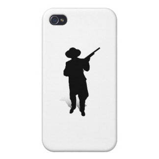Man and Gun 2 iPhone 4 Covers
