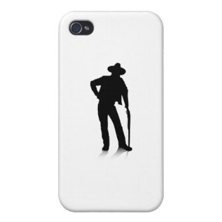 Man and Gun iPhone 4 Cover