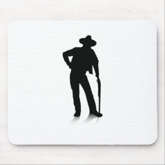 Man and Gun Mouse Pad