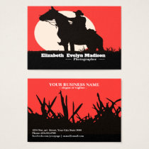 man and horses 3456 business card