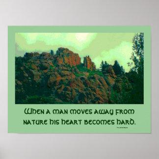 man and nature lakota proverb poster