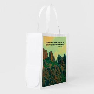man and nature lakota proverb grocery bags