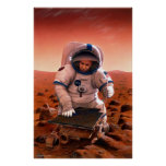 Man and Sojourner Meet on Mars Print