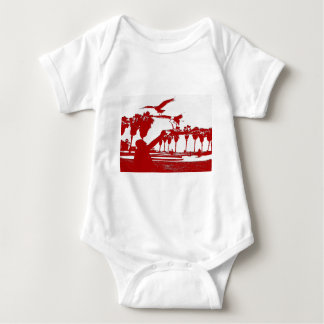 Man and the BIrds Baby Bodysuit