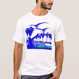 Man and the Birds-blue-calif. T-Shirt