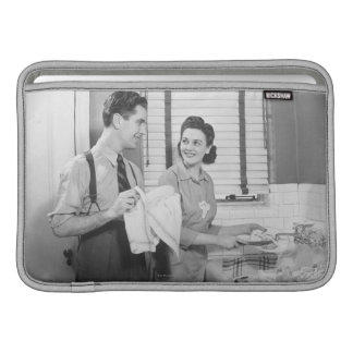 Man and Woman Doing Dishes MacBook Air Sleeve