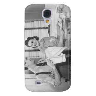 Man and Woman Doing Dishes Samsung Galaxy S4 Cover