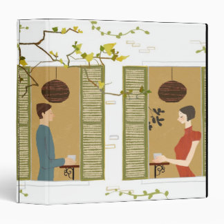 Man and Woman Drinking Coffee Binder