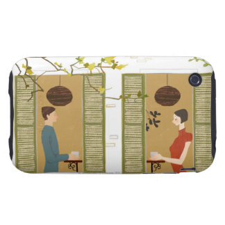 Man and Woman Drinking Coffee iPhone 3 Tough Cover