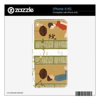 Man and Woman Drinking Coffee Skin For iPhone 4