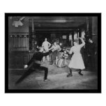 Man and Woman Fencing 1908 Posters