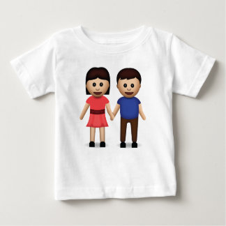 Man And Woman Holding Hands Emoji Baby T-Shirt