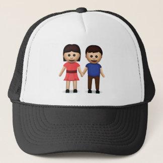 Man And Woman Holding Hands Emoji Trucker Hat