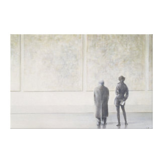 Man and Woman in an Art Gallery Canvas Print