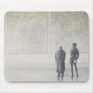 Man and Woman in an Art Gallery Mouse Pad