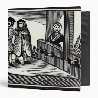 Man and Woman in the Stocks Binder