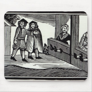 Man and Woman in the Stocks Mouse Pad