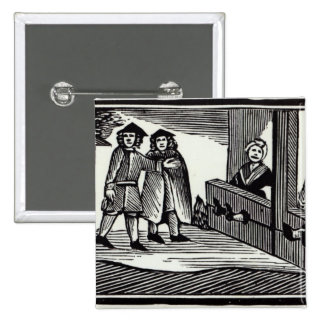 Man and Woman in the Stocks Pinback Button