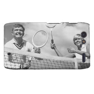 Man and Woman Playing Tennis Motorola Droid RAZR Covers