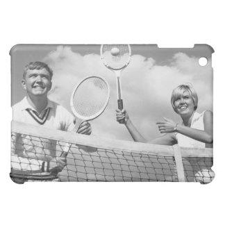 Man and Woman Playing Tennis Cover For The iPad Mini