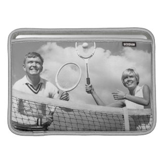 Man and Woman Playing Tennis MacBook Sleeve