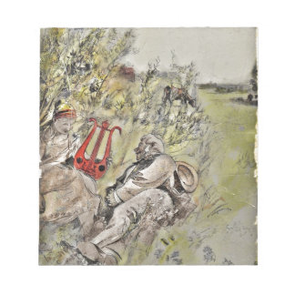 Man and Woman Sitting in the Pasture Notepad