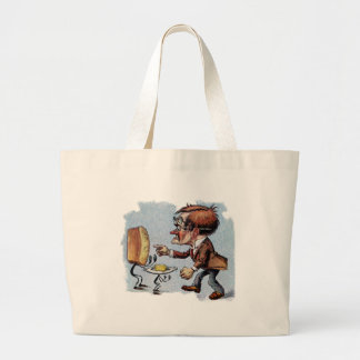 Man Arguing with Bread and Butter Canvas Bags