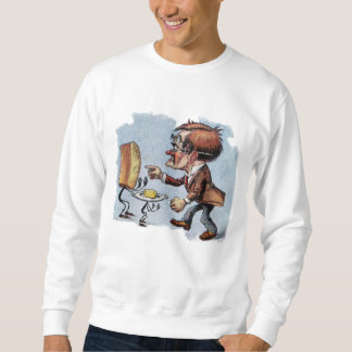 Man Arguing with Bread and Butter Sweatshirt