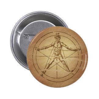 Man as Microcosm Pinback Button