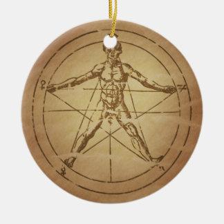 Man as Microcosm Magic Charms Ornament