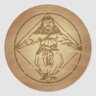 Man as Universe Chinese Magic Charms Classic Round Sticker