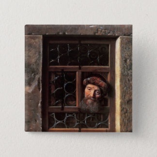 Man at a Window, 1653 Pinback Button
