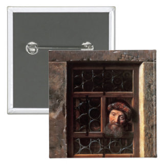 Man at a Window, 1653 Pinback Button