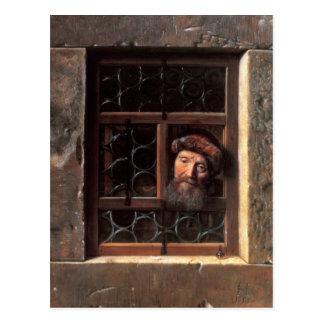 Man at a Window, 1653 Postcard