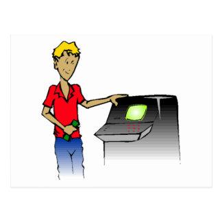 Man At ATM Postcard
