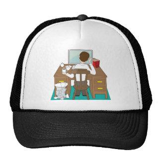 Man at Desk Trucker Hats