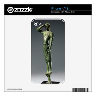 Man at prayer, Archaic Greek bronze sculpture some Decals For iPhone 4S